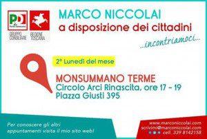 Calendario ricevimento Marco Niccolai