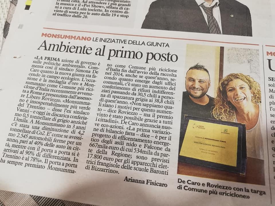 """Articolo """"La Nazione"""""""